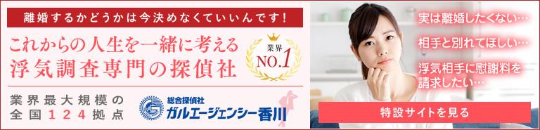 離婚するかどうかは今決めなくていいんです!綜合探偵社ガルエージェンシー香川